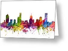 Melbourne Australia Cityscape 06 Greeting Card