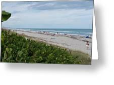 Melbourne Beach Florida November View Greeting Card