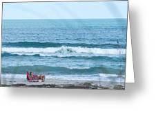Melbourne Beach Florida On The Phone Greeting Card