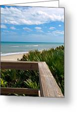 Melbourne Beach In Florida Greeting Card