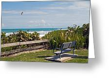 Melbourne Beach In Florida Usa Greeting Card