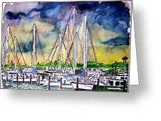 Melbourne Florida Marina Greeting Card