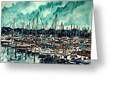 Melbourne Florida Sailing Marina Greeting Card