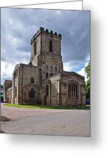 Melbourne Parish Church In Derbyshire Greeting Card