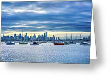 Melbourne Skyline Greeting Card