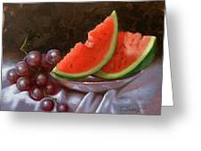 Melon Slices Greeting Card