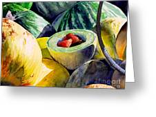#18 Melons Plus Greeting Card