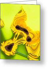 Melted Flowers Greeting Card