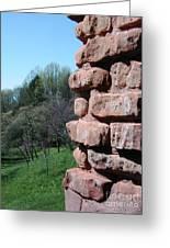 Melting Brick Wall Greeting Card