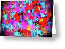 Melting Flowers Abstract  Greeting Card