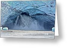 Melting Glacier Greeting Card