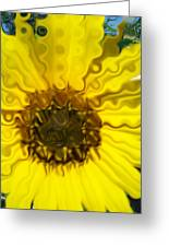 Melting Sunflower Greeting Card