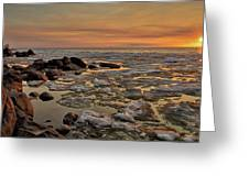 Melting Waters Greeting Card by Stuart Deacon