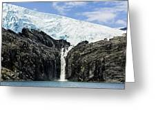 Meltwater From The Northland Glacier Greeting Card by Ray Bulson