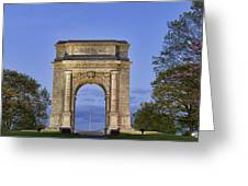 Memorial Arch Valley Forge Greeting Card