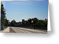 Memorial Avenue Bridge Roanoke Virginia Greeting Card by Teresa Mucha