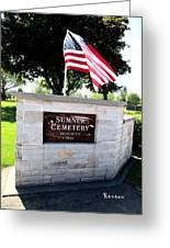 Memorial Day 2017 - Sumner W A Cemetery Greeting Card
