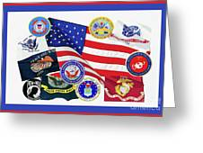 Memorial Day Collage Greeting Card