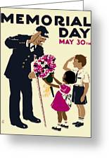 Memorial Day Poster Wpa Greeting Card