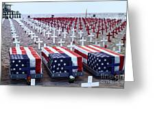 Memorial Day Remembrance At The Beach Greeting Card