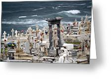 Memorials Washed Away Greeting Card