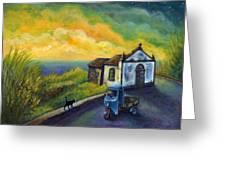 Memories Neath A Yellow Sky Greeting Card
