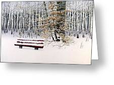 Memories Of Birchtrees Greeting Card