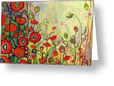 Memories Of Grandmother's Garden Greeting Card