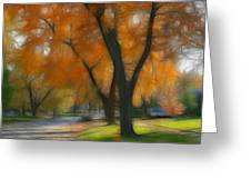 Memory Of An Autumn Day Greeting Card