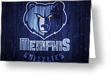 Memphis Grizzlies Barn Door Greeting Card
