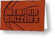 Memphis Grizzlies Leather Art Greeting Card