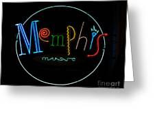 Memphis Neon Sign Greeting Card