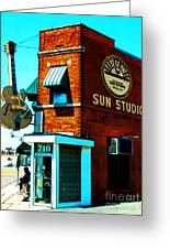 Memphis Sun Studio Birthplace Of Rock And Roll 20160215sketch Greeting Card
