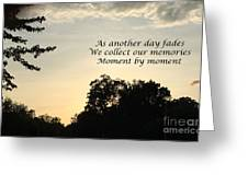 Memphis Sunset Haiku Greeting Card by Leona Atkinson