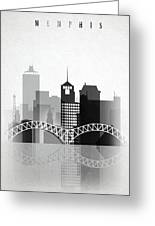 Memphis, Tennessee Skyline  Greeting Card