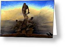 Men Of Greece Greeting Card by David Lee Thompson