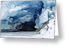 Mendenhall Glacier Face Greeting Card