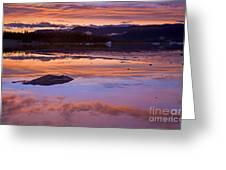 Mendenhall Sunset Greeting Card