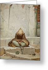 Mendicant In Meditation Greeting Card