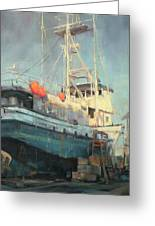 In Dry Dock Greeting Card