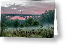 Mendota Bridge Sunrise Greeting Card