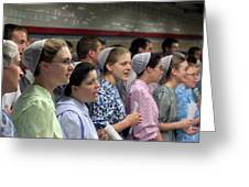 Mennonite Chorus  Union Square Station Nyc 5 21 11 1 Greeting Card