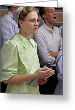Mennonite Chorus Union Square Station Nyc 5 21 11 4 Female Sing Greeting Card