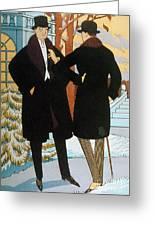 Mens Fashion, 1919 Greeting Card
