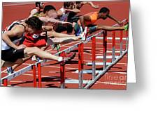 Mens Hurdles 2 Greeting Card