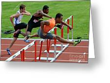 Mens Hurdles Greeting Card