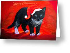 Meow Christmas Kitty Greeting Card