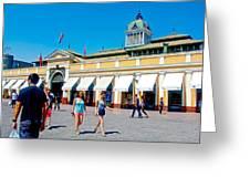 Mercado Centra In Santiago-chile Greeting Card