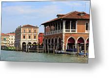 Mercato Di Rialto In Venice Italy Greeting Card