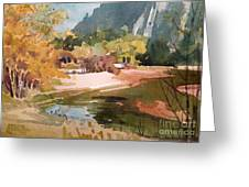 Merced River Encounter Greeting Card